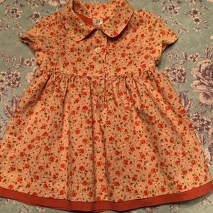 Baby Gap pale peach lined cotton dress